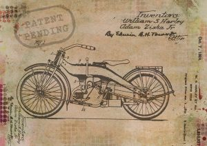 Image of motor cycle patent